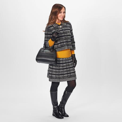 D`Exterior Couture-Jacke oder -Rock Das unvergängliche Couture-Kostüm – gestrickt und modisch aktualisiert vom italienischen Luxus-Label D`Exterior.