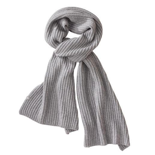 FTC XXL-Kaschmirschal Überlang. Breit gerippt. Genau die richtigen Farben: Der Schal der Saison kommt von FTC Cashmere.
