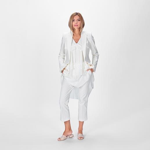 SLY010 Anzug-Blazer oder -Hose Erfolgsmodell Hosenanzug: Trotz des Baumwollstoffes hochelegant und sogar hochzeitstauglich. Von SLY010.
