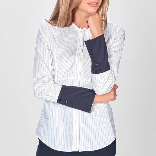 Strenesse vereint 5 Stil-Elemente einer klassischen Hemdbluse – und macht sie so hochmodisch. Strenesse vereint 5 Stil-Elemente einer klassischen Hemdbluse – und macht sie so hochmodisch.