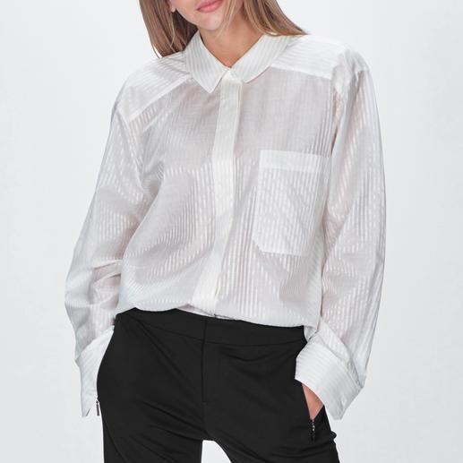Strenesse Oversize-Bluse Oversize-Form im Herrenstil: Bei Strenesse bleibt der maskuline Blusen-Trend feminin.