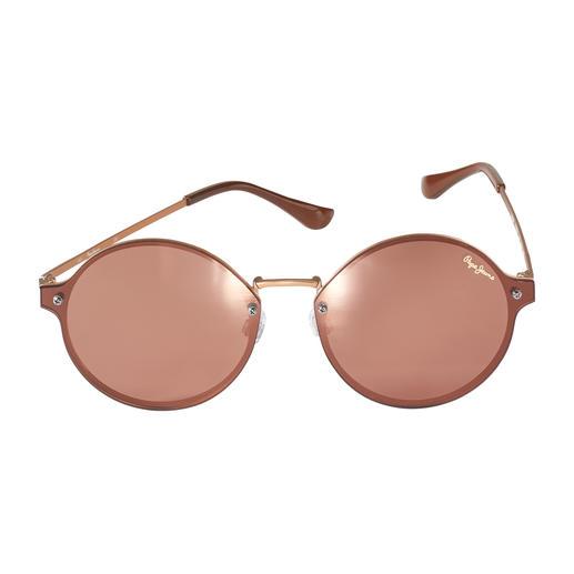Pepe Jeans Flat Lense-Sonnenbrille, rund Flat, verspiegelt und rund – trendiger kann eine Sonnenbrille kaum sein. Von Pepe Jeans London.