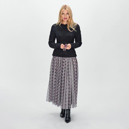 SLY010 Pythonprint-Tüllrock Fashion-Facts Tüllrock, Midi-Länge, Python-Prints, Nude-Töne - vereint auf außergewöhnlich elegante Art.