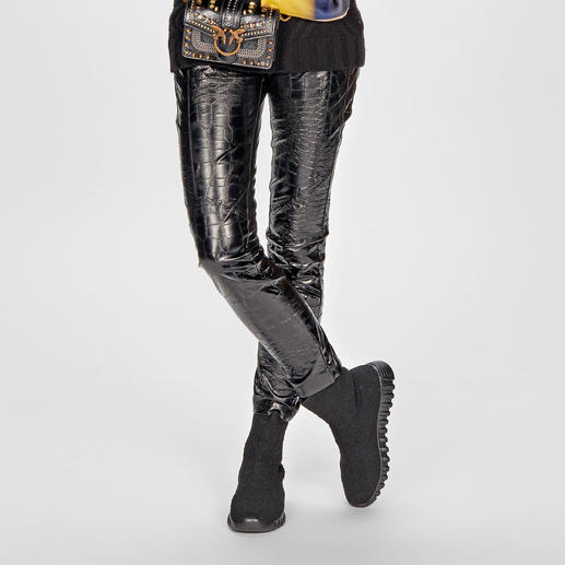 Pinko Kroko-Leggings Pinkos Kroko-Leggings sind kaum von echten Leder-Modellen zu unterscheiden.
