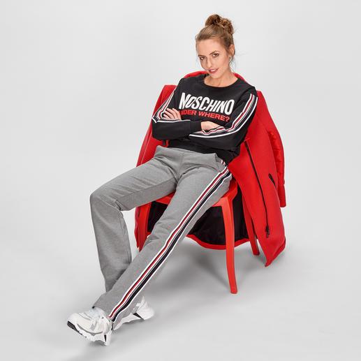 Moschino Underwear Jogger-Hose oder Sport-Sweater - Edler als die meisten. Kreativer als viele. Indoor bequeme Luxury-Loungewear. Outdoor topmodische Streetwear.