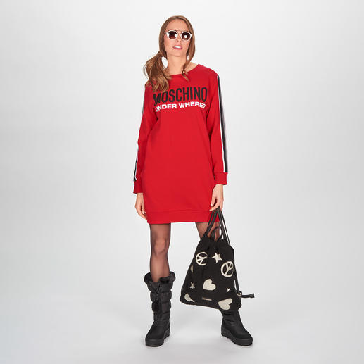 "Moschino Underwear Sweat-Dress - Sports Couture nach typisch witziger Moschino Art: das (Home-)Sweat-Dress aus der ""Under where?""-Kollektion."
