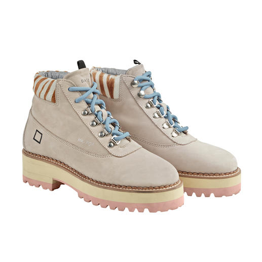 Trendige Hiking-Boots – aber leicht wie Sneakers. Trendige Hiking-Boots – aber leicht wie Sneakers. Vom italienischen In-Label D.A.T.E.
