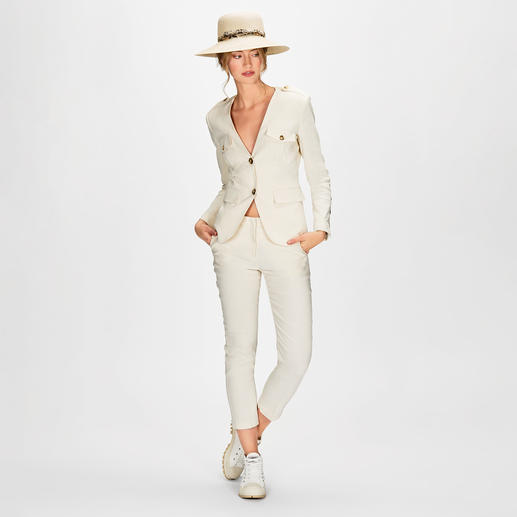 Safari-Anzug-Blazer und -Hose
