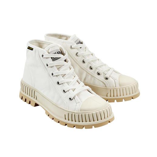 """Palladium Bulky-Sneaker Pallashock Mid - In den 90ern Kult – heute wieder Top-Trend: Der """"Pallashock"""" von Palladium. Bulky-Form. Mid-Cut-Schaft. Canvas."""