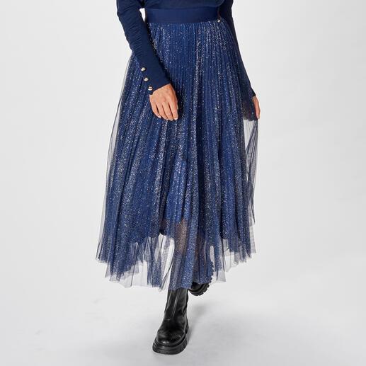 Liu Jo Plissee-Glitzer-Rock Vom Abendstar zur Glamour-Daywear - Liu Jos Eventwear wird tagestauglich: der Maxi-Skirt aus plissiertem Glitzer-Tüll.