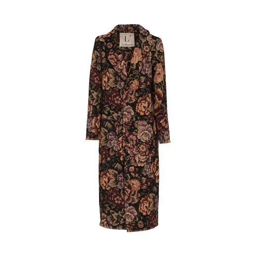 L`Autre Chose Brokat-Mantel Brokat-Muster. Fransen-Säume. Herbstlaub-Töne. Ein Mantel – drei Trends vereint. Von L´Autre Chose.