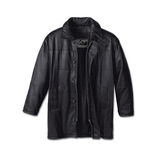 1.000 g-Jacke Feinstes, weiches Rentierkalb-Nappaleder mit leichter Wattierung. Zeitlos-elegant, business- und autotauglich.