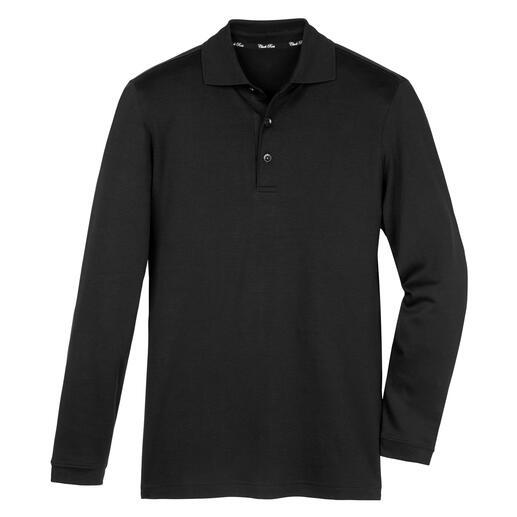 Das Langarm-Poloshirt aus handgepflückter, peruanischer Pima-Cotton. Luxus zum kleinen Preis.