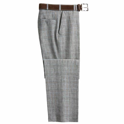 Passt zu fast allem, was Sie längst in Ihrem Kleiderschrank haben. Die Glencheck-Hose aus feinem Leinen von Bottoli, Italien.