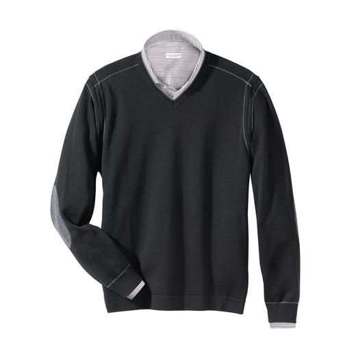Stereo-System® V-Pullover Der wärmende Wollpullover, der niemals kratzt