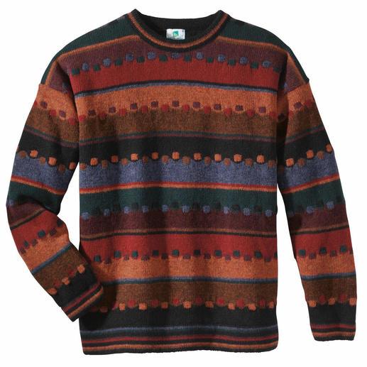 """Pullover """"Irischer Herbst"""" Edler Jacquard aus robuster, reiner Schurwolle handwerklich gefertigt."""
