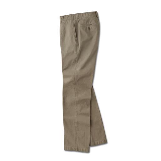 Pima-Cotton-Chino Seltene Pima-Cotton. Perfekte Passform. Erfreulicher Preis. Chinos vom Hosen-Spezialisten Dimensione.