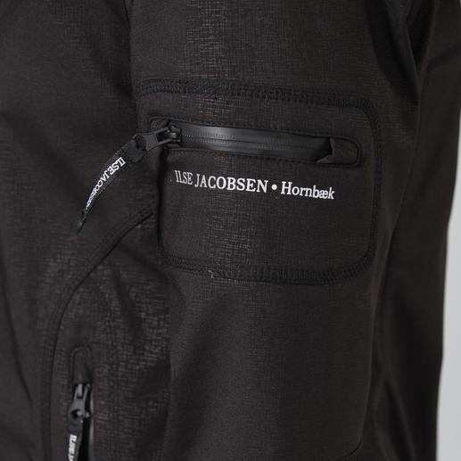 Sicher und wasserdicht: das gummierte Reißverschluss-Geldfach auf der linken Ärmelseite.