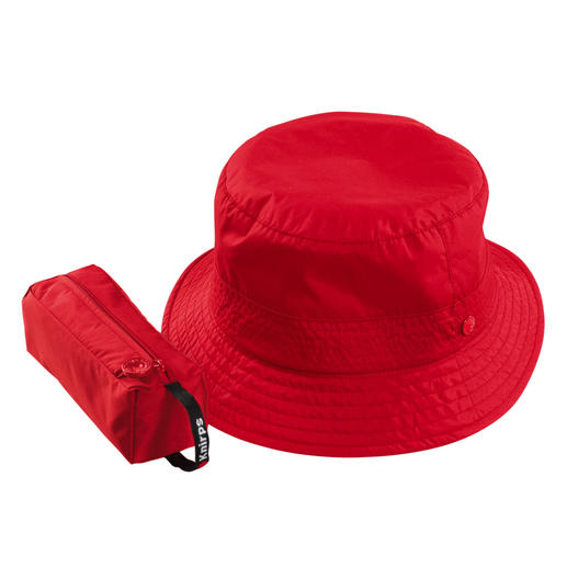 Knirps® Unisex-Regenhut Wasserdicht. Atmungsaktiv. Und stufenlos weitenverstellbar. Ein Regenhut, der perfekt sitzt. Von Knirps®.