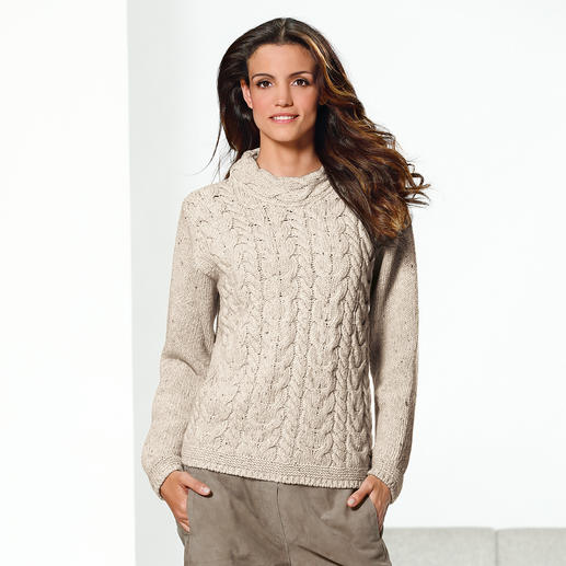 Der original irische Zopf-Pullover kommt nie aus der Mode. Und ist doch schwer zu finden. Der original irische Zopf-Pullover kommt nie aus der Mode. Und ist doch schwer zu finden.