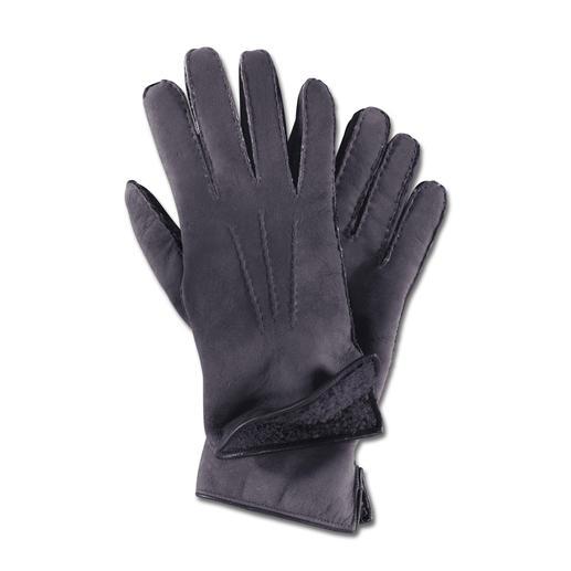 Merola Curly-Lamm-Handschuhe für Damen - Der Luxus-Handschuh aus seltenem Curly-Lammpelz. Handgefertigt von Merola/ Italien.