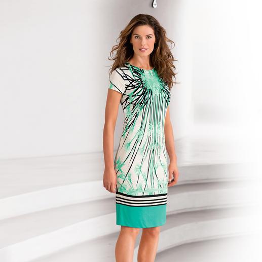 """cavalli CLASS Reisekleid """"Mint Flowers"""" - Das Designerkleid für jeden Tag. Von cavalli CLASS – knitterarm, reisetauglich und sehr bequem."""