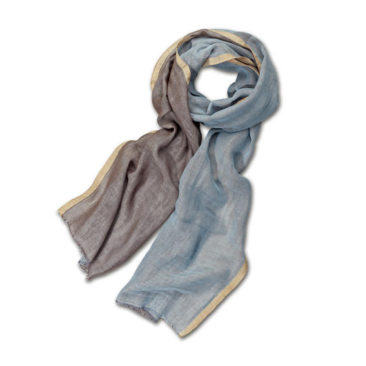 alpi Doubleface-Schal Zwei Farben, unendliche Kombinationen. Federleicht. Und viel stilvoller als herkömmliche Baumwoll-Schals.