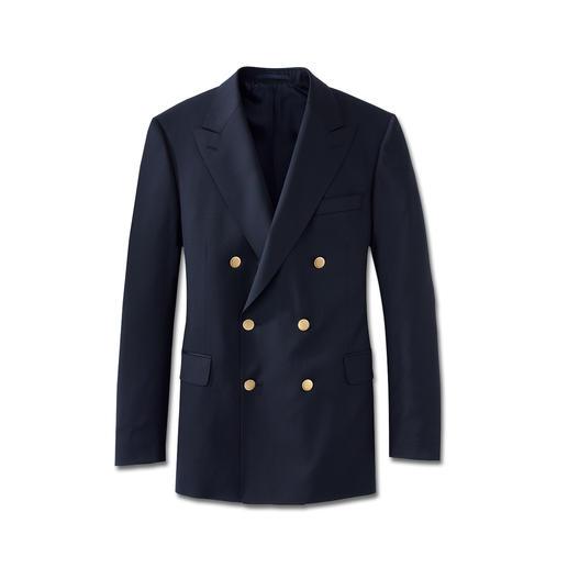 Eduard Dressler Admiral-Clubblazer Aus feinem italienischen Tuch. Schneidermäßig verarbeitet von Eduard Dressler, seit 1929.