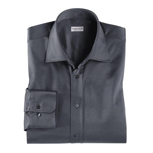 Claude Dufour-Jerseyhemd Korrekt genug für offizielle Termine. Aber bequem wie ein Freizeit-Shirt:  Das Jerseyhemd von Claude Dufour.