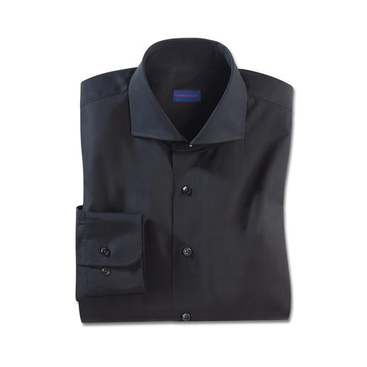 Constant-Colour-Hemd Schwarz bleibt Schwarz. Auch nach vielen Wäschen. Das Constant-Colour-Hemd von Claude Dufour.
