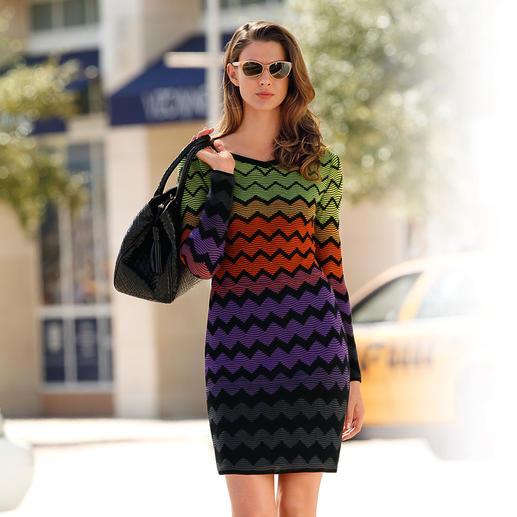 M Missoni Farbverlauf-Kleid Oft kopiert, doch unerreicht: Original Strickkunstwerk von M Missoni. In den aktuellen Farben der Saison.