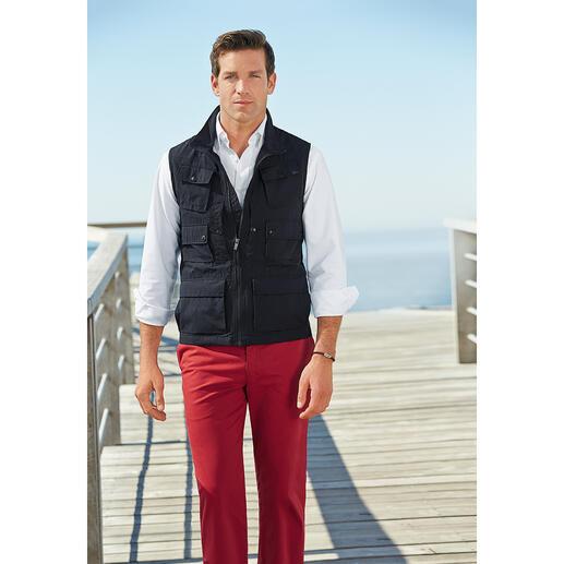 Aigle 10-Taschen-Weste 10 praktische Taschen. Und Schutz vor schädlicher UV-Strahlung. Die Reise-Weste mit UV-CONTROL®.