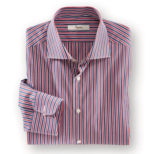 Ingram Maritimes Streifenhemd - Die wichtigen maritimen Farben in einem Hemd. Lässig genug für die Freizeit, fein genug fürs Business.