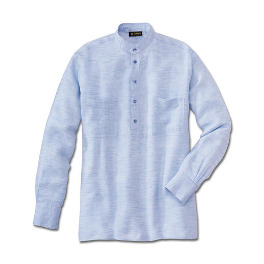 Hollington Panama-Leinen-Hemd Doppelt luftig: Leinen in Panama-Bindung. Perfekt bei 30 Grad und mehr. Von Patric Hollington.