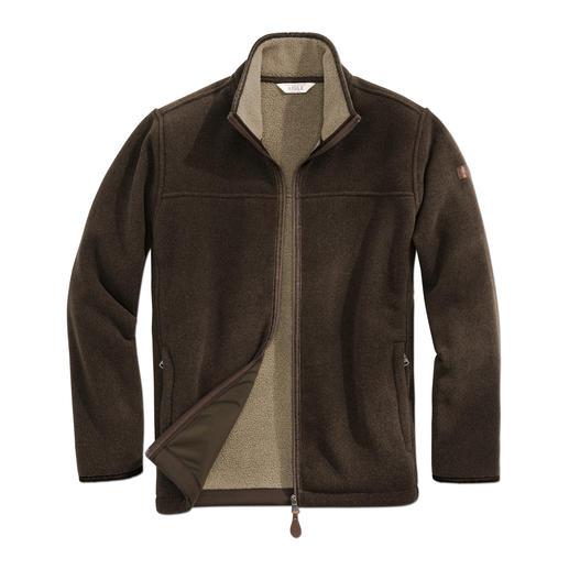 Aigle Polartec®-Jacke, Braun Endlich eine alltagstaugliche Fleece-Jacke. Dank Polartec® Classic 300 winterwarm, Wind und Wasser abweisend.