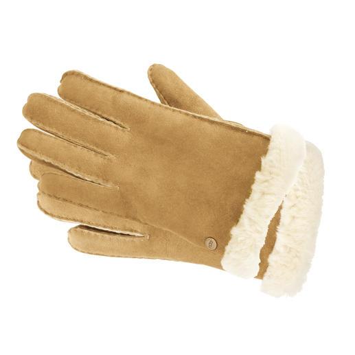 UGG®-Lammfell-Handschuhe, Chestnut oder Schoko - Kuschelig weich, ganz leicht und schön warm: Lammfell-Handschuhe der Kultmarke UGG® Australia.