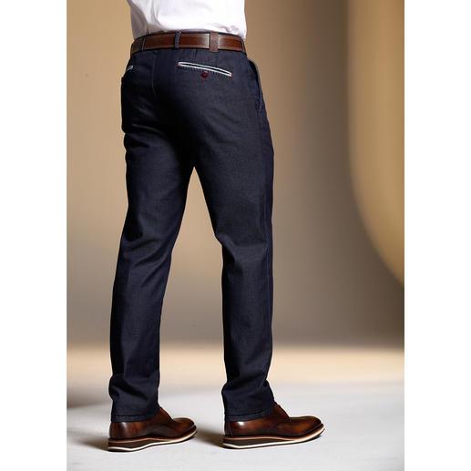 MMX Flat-Front-Edeljeans Die Edel-Jeans für Gentlemen. Optisch nah an der Tuchhose. Aber aus robustem, unempfindlichem Denim.