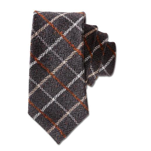 Laco Karo-Wollkrawatte, Braun Selten ist eine karierte Krawatte so stilvoll und dezent. Von Laco/Hamburg, seit 1838.