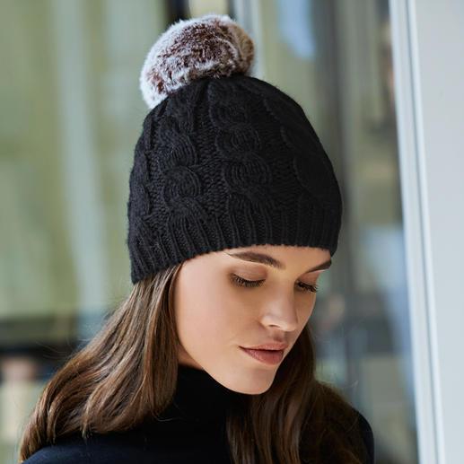 Wechsel-Bommel-Mütze Geniale Idee zum Fellbommel-Trend: Das Wechsel-System von Accessoire-Designerin Evelyne Prélonge, Frankreich