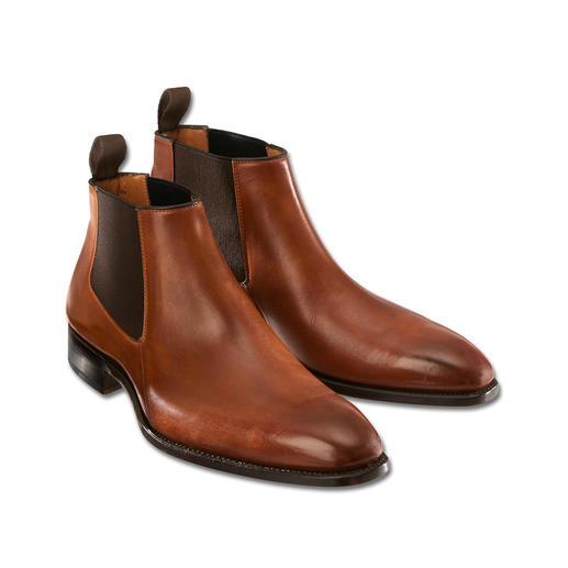 """Carlos Santos Chelsea-Boots """"Low-cut"""" Das modische Klassiker-Update: Chelsea-Boots mit Low-Cut-Schaft. Rahmengenäht von Carlos Santos, Portugal."""