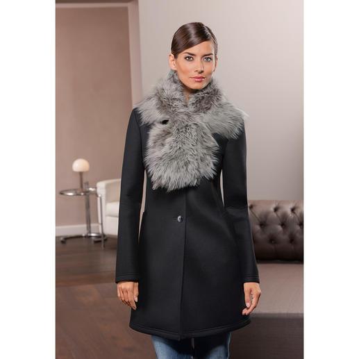 Tigrado-Lammfell-Schal - Wärmender Schal. Oder dekorativer Kragen für Ihre Jacken, Mäntel und Pullover.