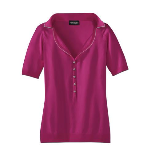 John Smedley-Polo Die Herstellung dieses Shirts dauert 60 Stunden. Den Unterschied spüren Sie in Sekunden.