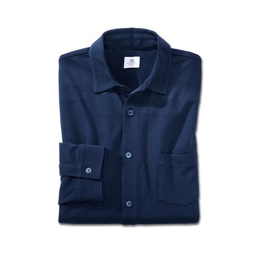 Sunspel Pima-Piqué-Hemd - Ihr wohl luftigstes und bequemstes Sommerhemd. Mit Piqué-Gewirk aus Pima-Baumwolle.