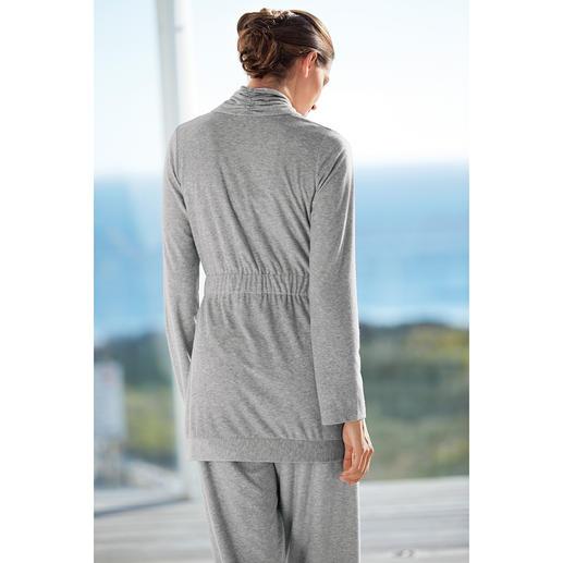 Cornelie Weiss Loungewear-Anzug, Silbergrau-meliert Farbbeständig. Dauerhaft schön. Und strapazierfähiger als die meisten. Aus dem Atelier der Homewear-Spezialistin Cornelie Weiss.