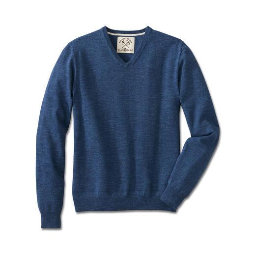 Alan Paine Denim-Pullover Zeitgemäßer Denim-Look vom britischen Traditionsstricker Alan Paine. Selten farbintensiv und extra soft.