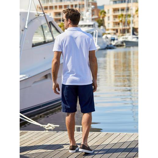 Hoal 4,5-oz-Denim-Bermudas Die Jeans-Bermudas für den Gentleman. Sommerleichter 4,5-Unzen-Denim. Stilvolles Jacquard-Dessin.