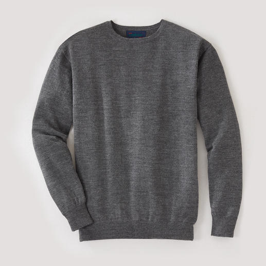 Alpaka-Reisepullover Rundhals oder V-Ausschnitt Baby-Alpaka macht diesen Pullover zu Ihrem wichtigsten Reisebegleiter.