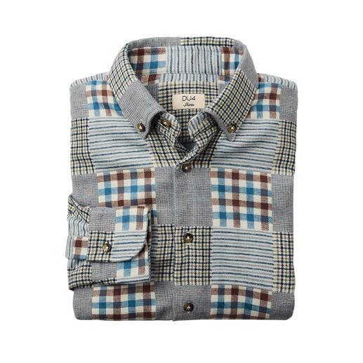 """Das seltene """"Schwergewicht"""" unter Ihren Flanellhemden: ideal auch als warmes Overshirt. Herrlich weich, da sanft vorgewaschen. Konfektioniert von Hemden-Spezialist DU4."""