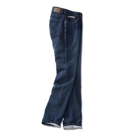 24 Stunden-Jeans - Die Optik einer klassischen Jeans. Und die Bequemlichkeit einer Jogginghose. Echte Indigofärbung bringt authentischen Denim-Look.