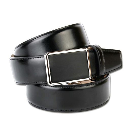 Anthoni Crown Patent-Gürtel - Puristisches Design, passend zu unzähligen Outfits. Stufenlos verstellbar und keine Löcher im Leder.